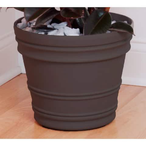 Bloem Rolled Rim 16-inch Peppercorn Rim Planter