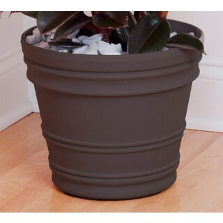 Bloem Rolled Rim 16-inch Peppercorn Rim Planter