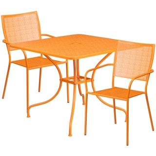 Karako 3-Piece Artistic Designed Orange Large Bistro Set