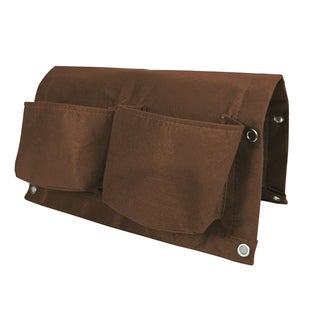 BloemBagz Deck Rail 4-Pocket Hanging Planter Bag - Chocolate