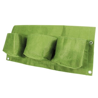 BloemBagz Deck Rail 6-Pocket Hanging Planter Bag - Honey Dew