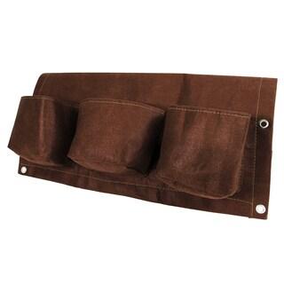 BloemBagz Deck Rail 6-Pocket Hanging Planter Bag , Chocolate