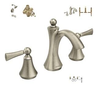 Moen Master Bath Suite - T4520BN Bath Faucet, 9000 Valve, T4503BN Shower System, 2520 Valve, T653BN Tub Faucet, 4792 Valve