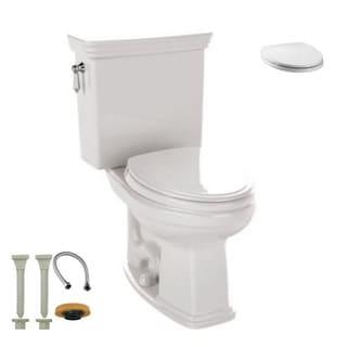 Toto CST424EF#01, Toilet Seat, Install Kit - CST424EF#01 2-Piece Toilet, SS114#01 Toilet Seat, hydrapro Install Kit