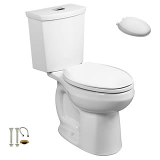 American Standard 2887.218.020, Toilet Seat, Install Kit - 2887.218.020 2-Piece Toilet, 5257A.65C.020 Toilet Seat, Install Kit