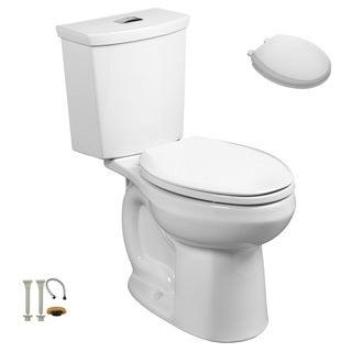 American Standard 2889.518.020, Toilet Seat, Install Kit - 2889.518.020 2-Piece Toilet, 5259B.65C.020 Toilet Seat, Install Kit