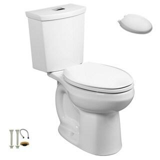 American Standard 2886.218.020, Toilet Seat, Install Kit - 2886.218.020 2-Piece Toilet, 5257A.65C.020 Toilet Seat, Install Kit