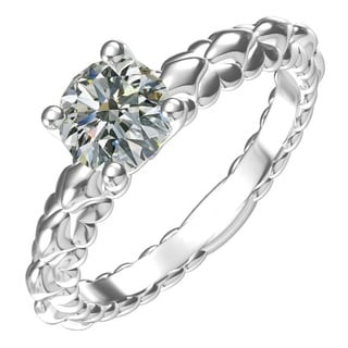 Sterling Silver 1ct TGW Cubic Zirconia Classic Engagement Ring