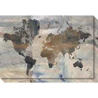 Canvas Art Gallery Wrap 'Stone World (Map)' by Avery Tillmon 30 x 20-inch