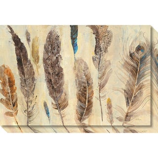 Canvas Art Gallery Wrap 'Feather Study' by Albena Hristova 30 x 20-inch