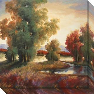 Canvas Art Gallery Wrap 'Mountain Shadows' by Adam Rogers 20 x 20-inch