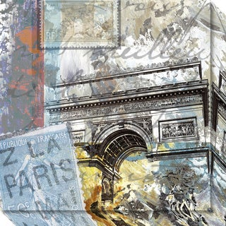 Canvas Art Gallery Wrap 'Paris Arc' by Andrew Mellen 20 x 20-inch