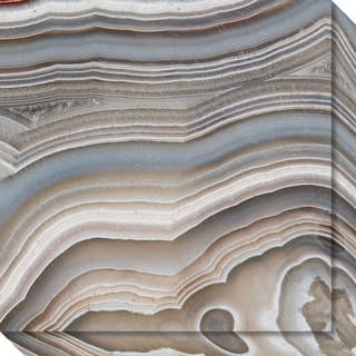 Canvas Art Gallery Wrap 'Stone Mountain I (Agate)' by David Lawrence 20 x 20-inch