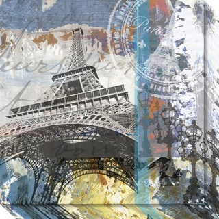 Canvas Art Gallery Wrap 'Paris Eiffel' by Andrew Mellen 20 x 20-inch