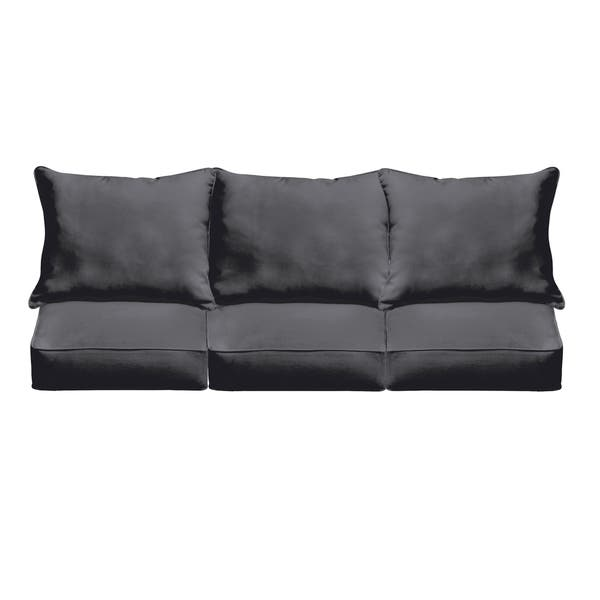 Remarkable Sloane Black Indoor Outdoor Corded Cushion And Pillow Sofa Set Uwap Interior Chair Design Uwaporg