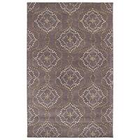 Hand-Tufted Lola Mosaic Grape Cobblestone Wool Rug (9'6 x 13'0)