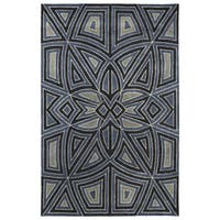 "Hand-Tufted Lola Mosaic Periwinkle Glass Wool Rug - 9'6"" x 13'"