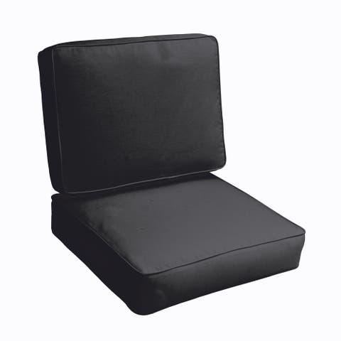 Sloane Black Indoor/ Outdoor Corded Chair Cushion Set