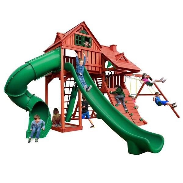 Gorilla Playsets Sun Palace Deluxe Cedar Swing Set