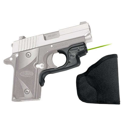 Crimson Trace Sig Sauer P238/P938 LaserGuard, Polymer, Overmold, Front Activation with Holster, Green