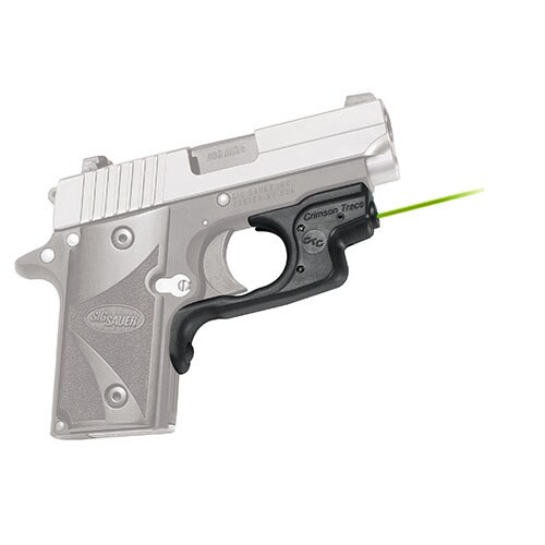 Crimson Trace Sig Sauer P238/P938 LaserGuard, Polymer, Overmold, Front Activation, Green