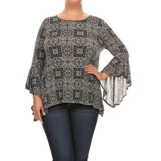 Women's Geometric Paisley Plus Size Tunic https://ak1.ostkcdn.com/images/products/14270937/P20857358.jpg?impolicy=medium