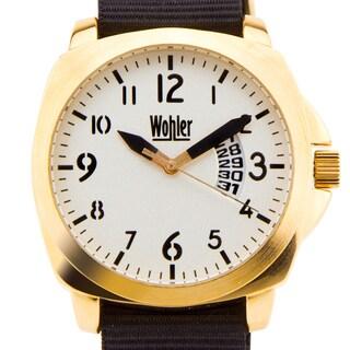 Wohler Ajax Men's sport watch, NATO strap, bold luminescent colors