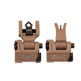 Troy Industries Medium Sight Set, M4 Front & Dioptic Rear Flat Dark Earth
