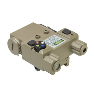 NcStar Green Laser 4X LED Nav Light Box/QR Mount Tan