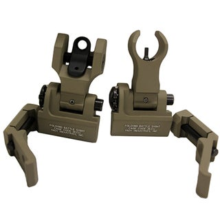Troy Industries 45 Degree Offset M4/Dioptic Rear Sight Set Flat Dark Earth