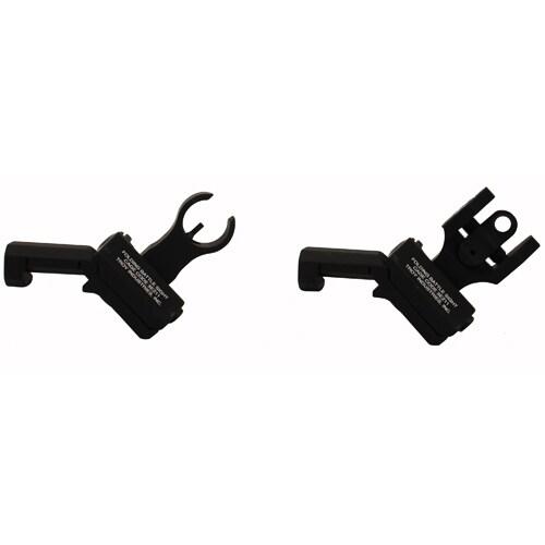 Troy Industries 45 Degree Offset HK/Round Rear Sight Set Black