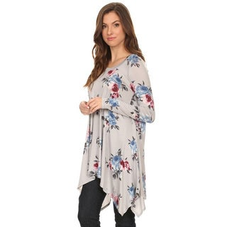 Women's Floral Pattern Tunic (3 options available)