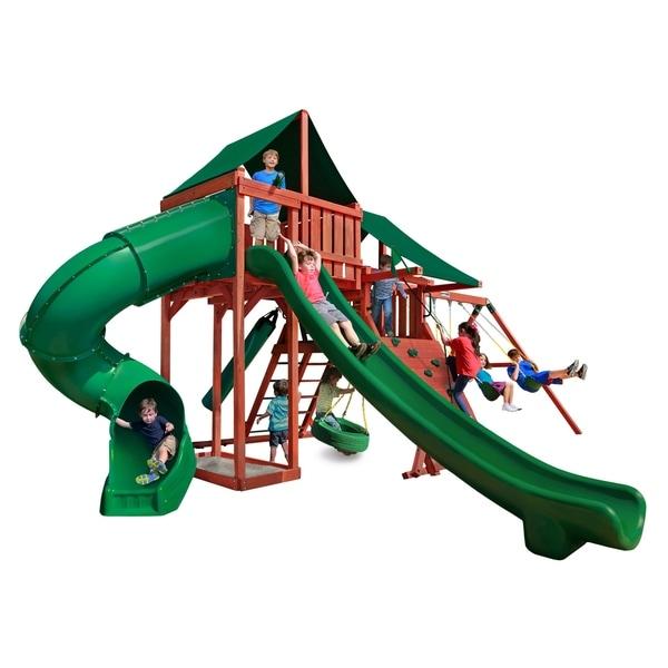Shop Gorilla Playsets Sun Climber Deluxe Wooden Swing Set