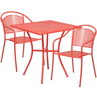 Kalev 3-Piece Artistic Designed Red Bistro Set