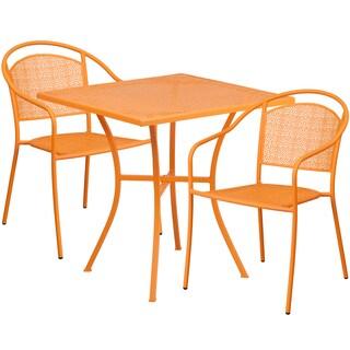Kalev 3-Piece Artistic Designed Orange Bistro Set