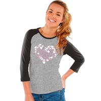 Girl's Gray/Black Cotton Short-sleeve Love Tee