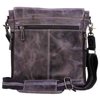 Gun Toten Mamas Buffalo Leather Vertical Messenger Bag, Vintage Brown Distress