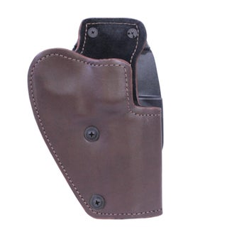 "Frontline 3 Layer Synthetic Leather Paddle Holster .357 Revolver with 4"" Barrel, Brown, Right Hand"