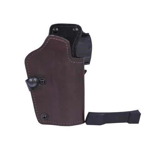Frontline 3 Layer Synthetic Leather Belt Holster CZ SP01 Phanton, Brown Right Hand