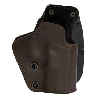 Frontline 3 Layer Synthetic Leather Paddle Holster Jericho/Baby Eagle Steel Full Size with Rails, Brown, Right Hand