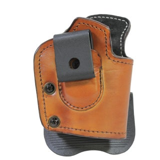 Frontline Inside Outside Multi Function Leather Holster Sig Sauer P229, Ambidextrous , Brown with Suede Lining