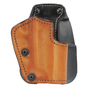 Frontline 3 Layer Synthetic Leather Paddle Holster 1911 Colt Commander, Brown, Right Hand