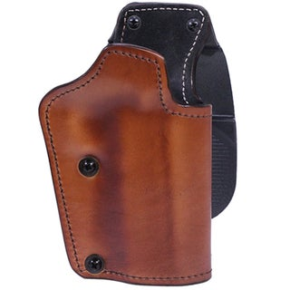 Frontline 3 Layer Synthetic Leather Paddle Holster CZ SP01 Shadow, Brown, Right Hand