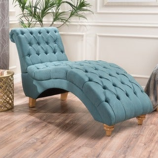 rhodes tufted fabric chaise lounge chair by christopher knight home - Lounge Chairs For Living Room