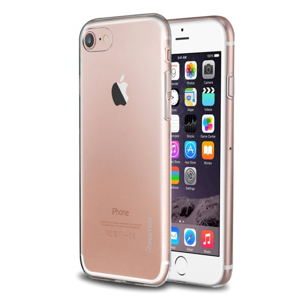 Insten Clear TPU Rubber Candy Skin Case for Apple iPhone 7/ 8