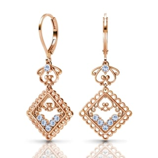 Sterling Silver Earrings by Lucia Costin Swarovski Crystals