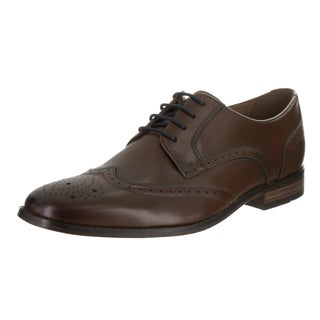Men's Clarks Narrate Wing Tip Oxford Tan Cow Full Grain Leather