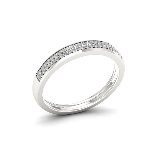 1/6ct TDW Diamond Vintage Style Ring in Sterling Silver - White