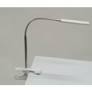 Offex Home Indoor White Stainless Steel Art Clamp Lamp