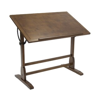 Offex Rustic Oak 42-inch Vintage Drafting Table